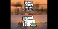 GTA V vs San Andreas Side by Side Video Comparison